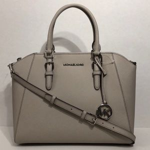 Michael Kors Large Ciara Satchel Grey